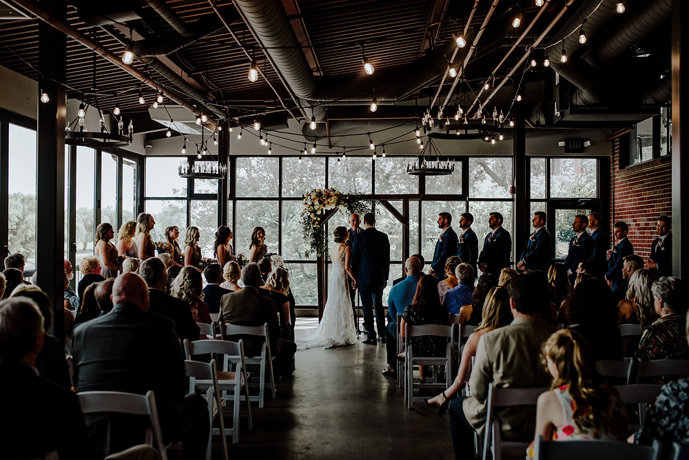 wedding photo by little blue bird photography at frankenmuth brewery in frankenmuth michigan