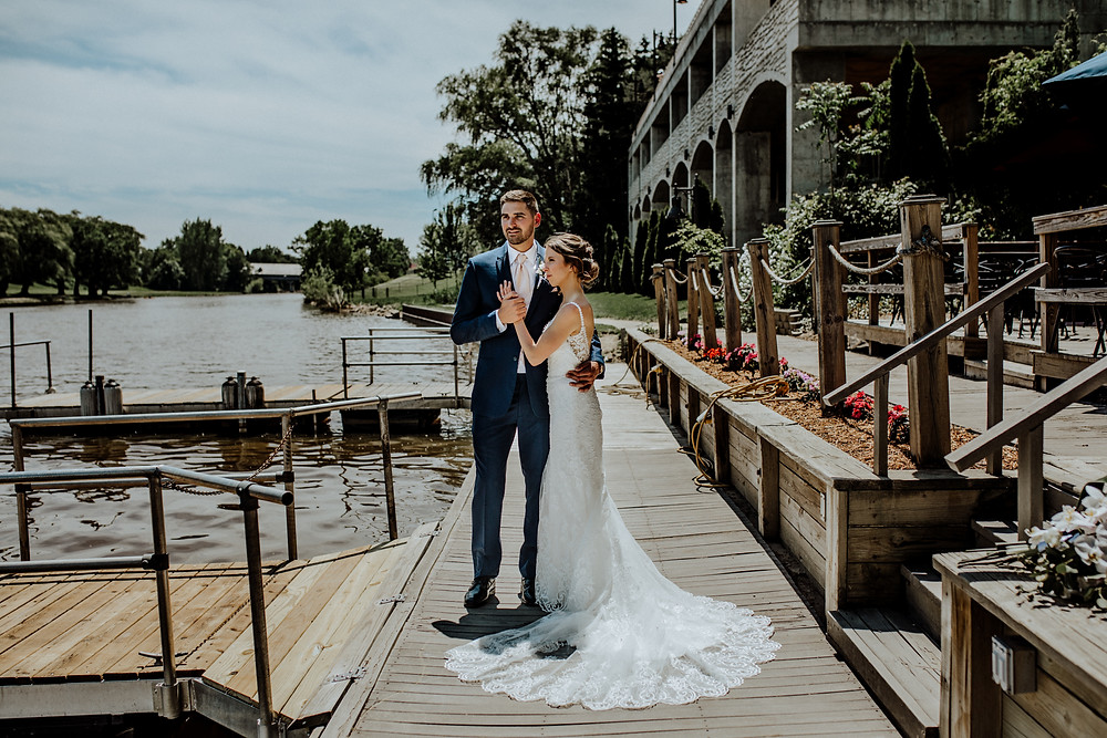 wedding photo by little blue bird photography at frakenmuth brewery in frankenmuth Michigan