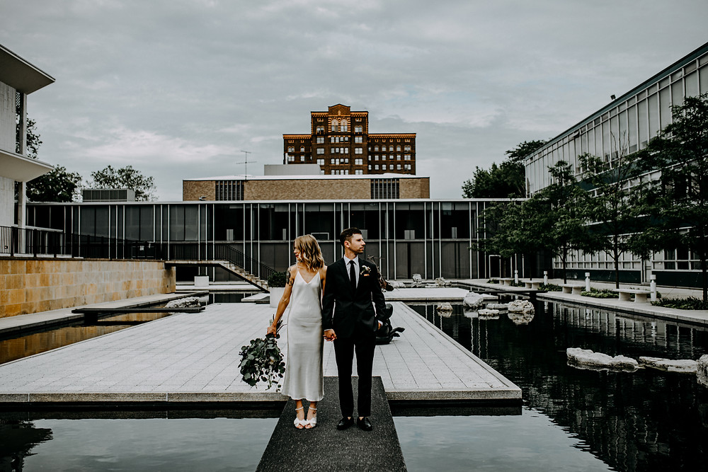wedding photo at mcgregor conference center in detroit taken by little blue bird photography