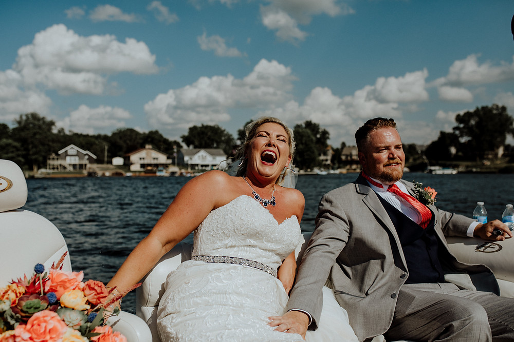 lake wedding photo by detroit area wedding photographer little blue bird photography