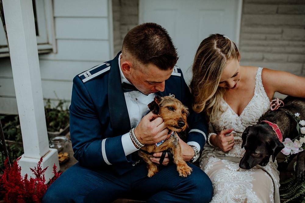 alternative wedding photo taken by little blue bird photography in detroit, michigan