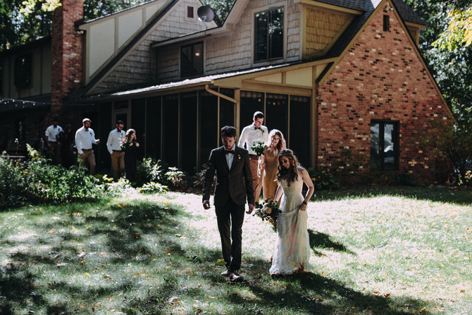 Lee & Brandon's Thailand Travels Inspired Campground Wedding in the Woods | Chelsea, Michiga