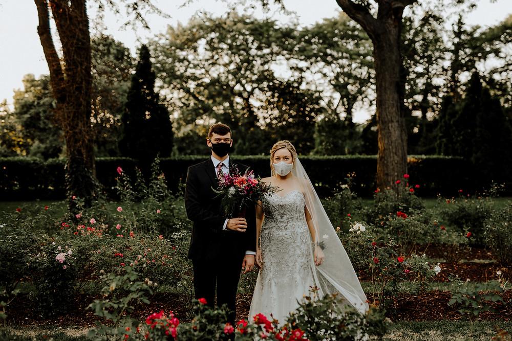 rose garden wedding at francis park in lansing, michigan