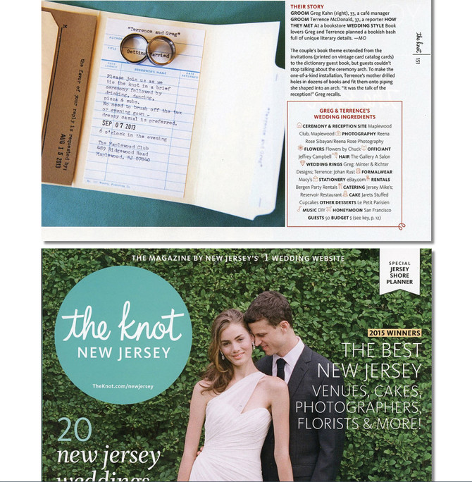 Featured in The Knot New Jersey Magazine!!!!!!!