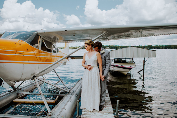 Enter your ceremony on a plane? Why yes. Yes, you should.