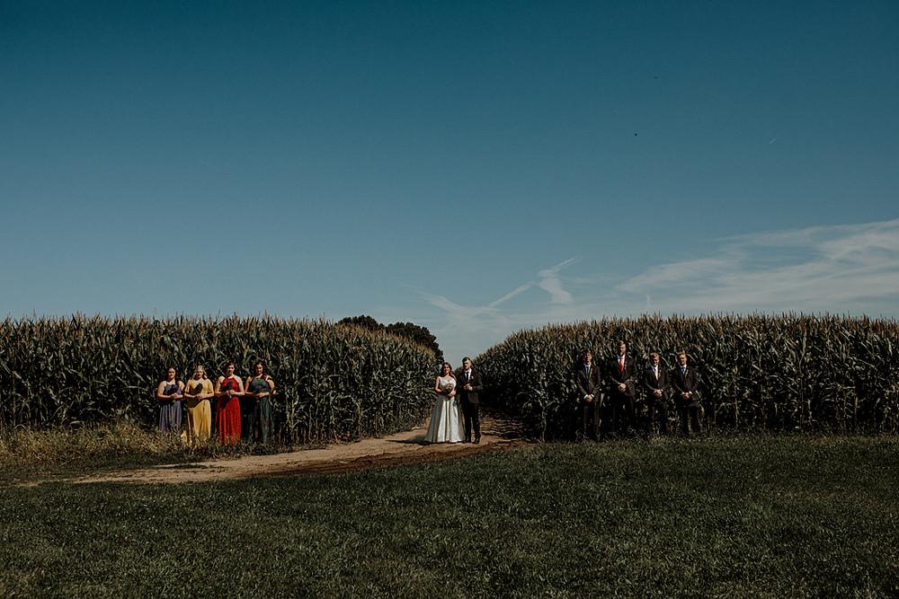 wedding photo at blodgett wedding barn in schoolcraft, michigan taken by detroit area wedding photographer, little blue bird photography