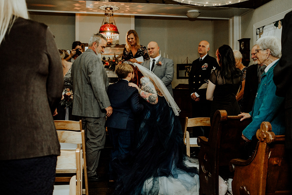 celebrations wedding chapel photo taken by little blue bird photography in horton, michigan.