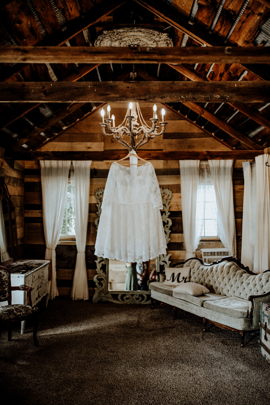 wedding dress from LaceMarry on etsy. photos by little blue bird photography at the milestone barn in bannister michigan.