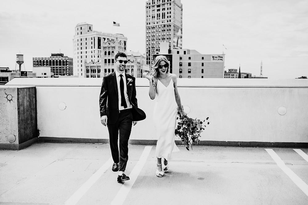 wedding photo by Little Blue Bird Photography at Shinola Hotel in Detroit, Michigan