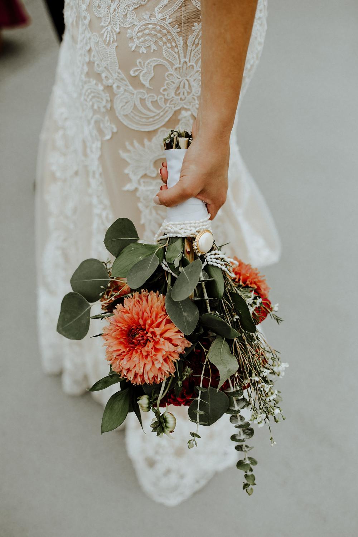 wedding bouquet in detroit