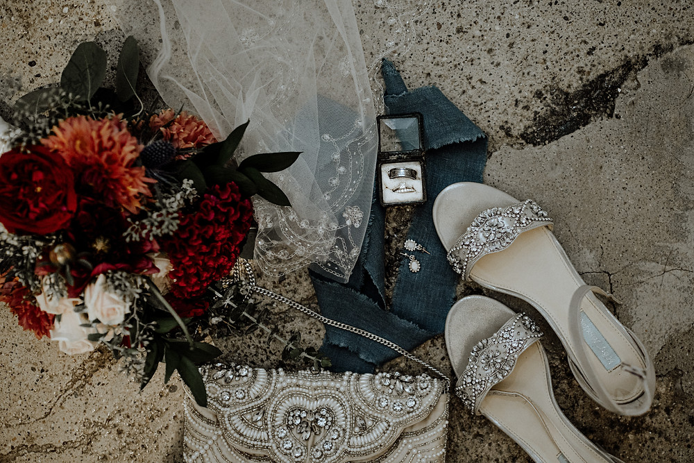 wedding photo taken by little blue bird photography in detroit, michigan