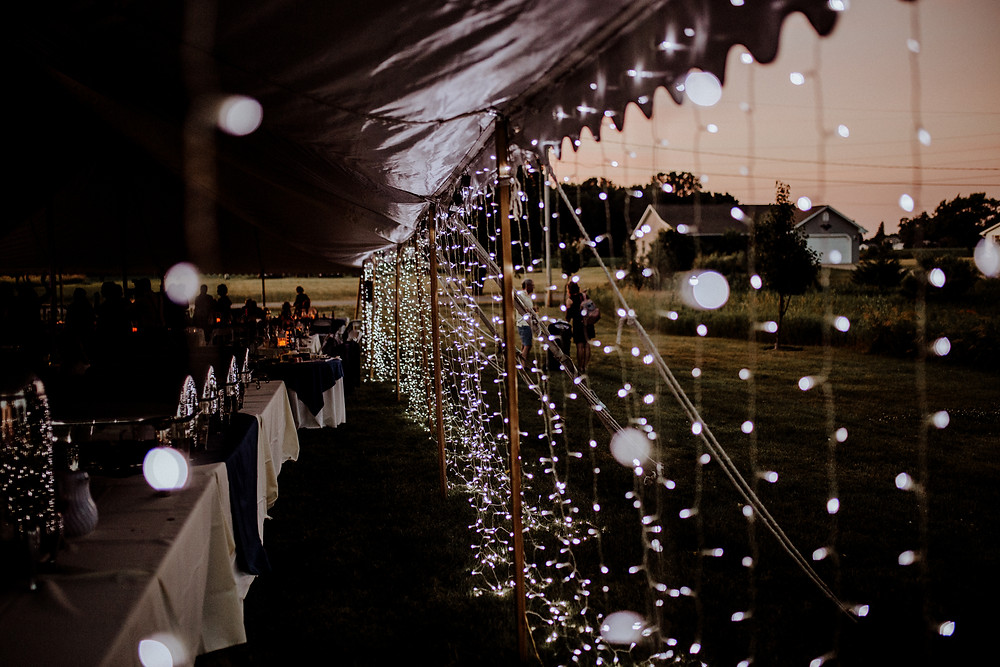 tent wedding photo by detroit area wedding photographer little blue bird photography