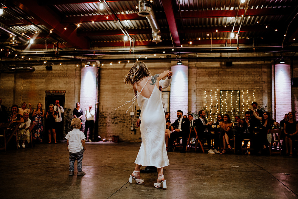 wedding photo by Little Blue Bird Photography at The Eastern in Detroit, Michigan