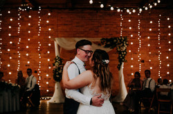 first dance with twinkle lights
