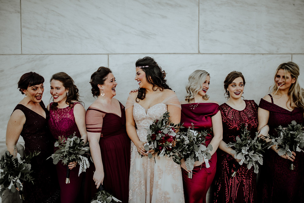 wedding photo by little blue bird photography at the dia in detroit michigan