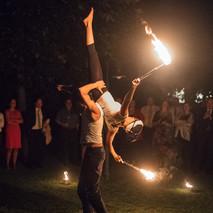 Feuershow mit Calimbaro