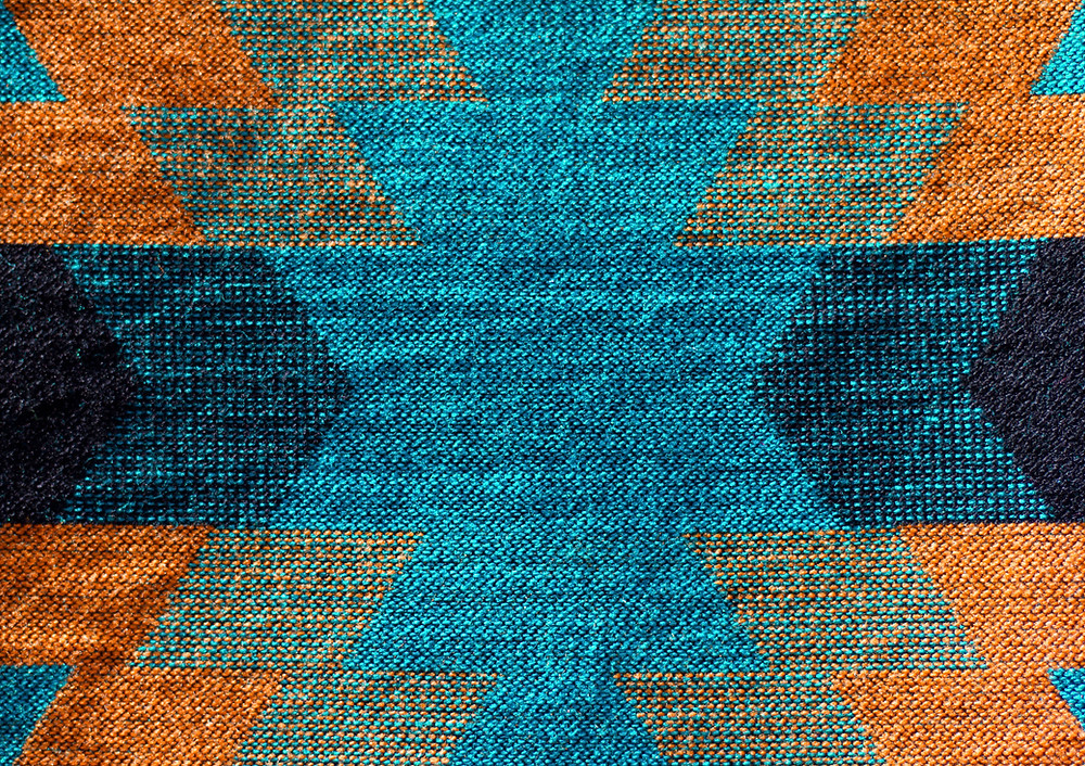 rug texture colorful at Ash Street Cooperative