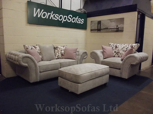 'Roma' 2 Seater Sofa And Armchair