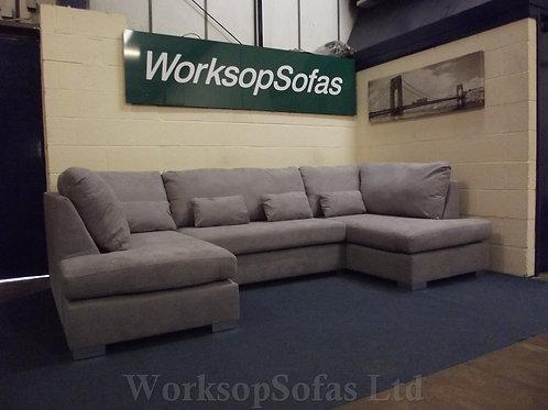 'London' Grey U Shape Corner Sofa