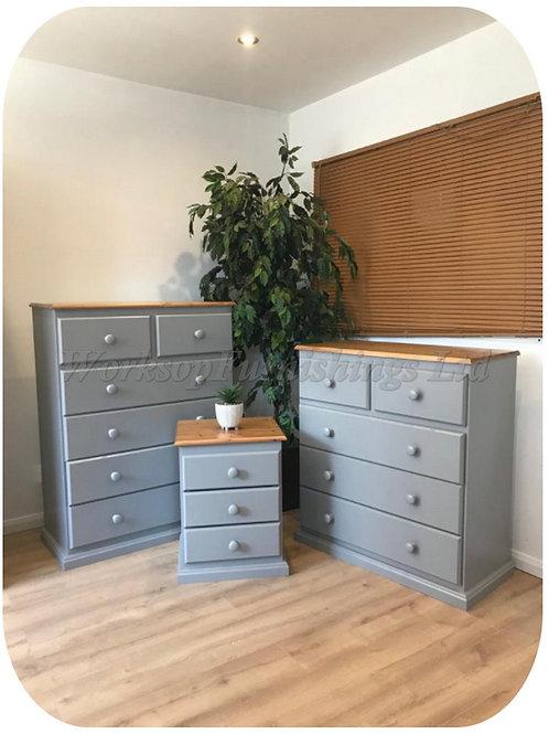 'Hartford' Bedroom Furniture Grey - Prices In Description