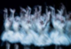 Ballerinas dancing Swan Lake