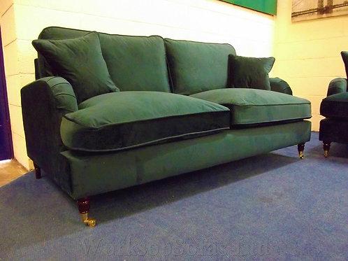 'Aspen' Emerald Green Velvet 3 & 2 Seater Sofa Suite