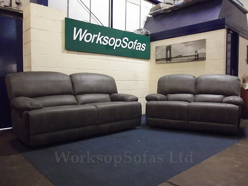 'Houston' Grey 3 & 2 Seater Sofa Suite
