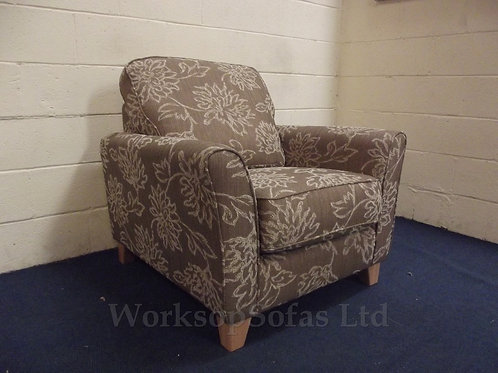 'Prato' Beige And Brown Armchair