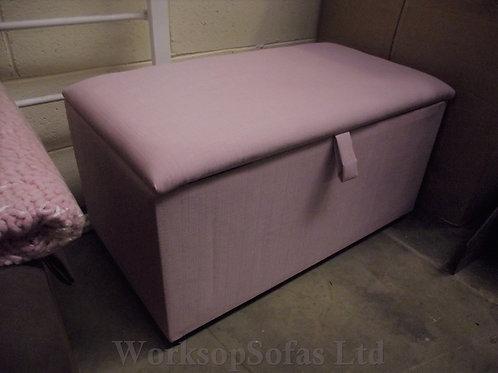 Pink Storage Ottoman