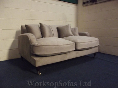 'Elizabeth' Grey Velvet 2 Seater Sofa