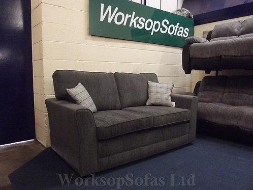 'Darla' 2 Seater Grey Fabric Sofa