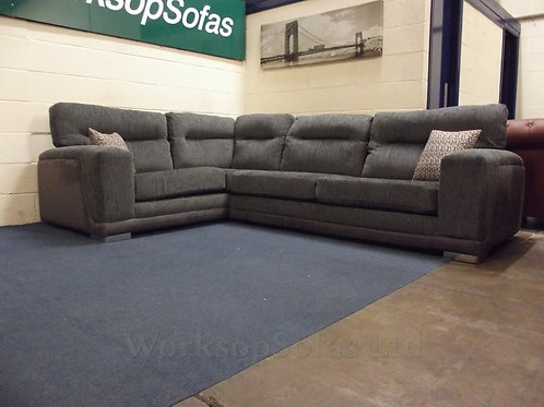 'Carlton' Grey Left Hand Corner Sofa