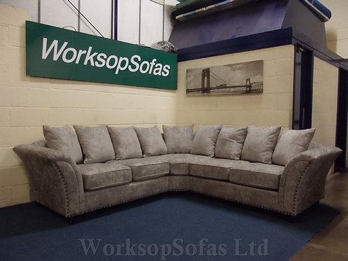 'Ursas' Beige Grey Corner Sofa