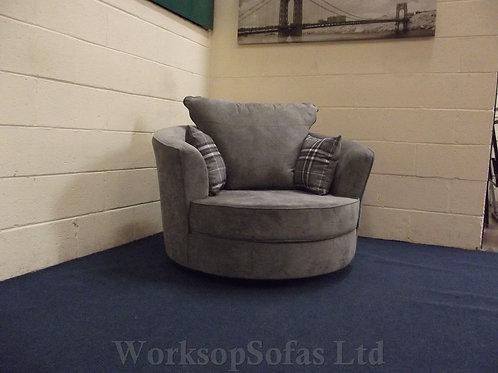 'Verona' Grey Swivel Chair