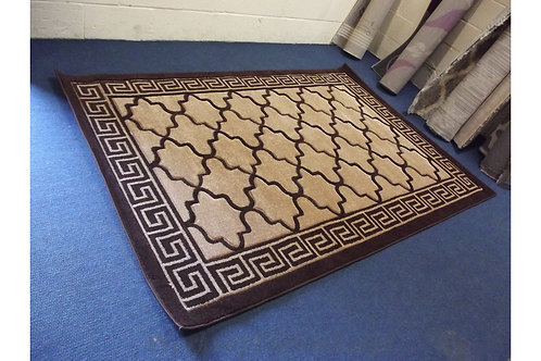 Brown And Beige Large Area Rug