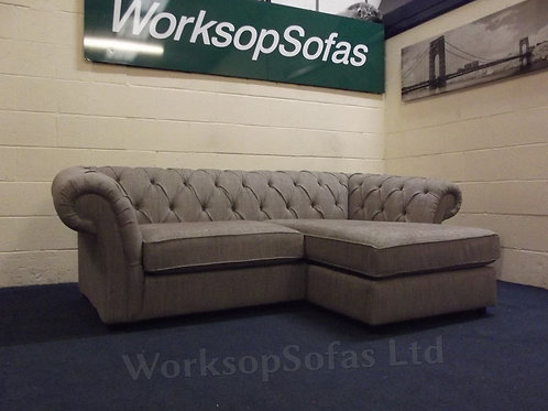 'Gosford' 3 Seater Right Or Left Hand Chaise Chesterfield StyleSofa