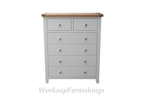 Hampshire Grey And Oak 2 Over 4 Drawer Chest