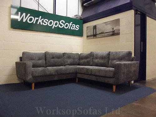 'Aurora' Grey Corner Sofa
