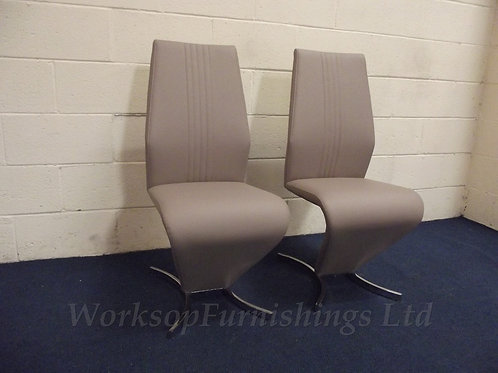2 x 'Willow' Taupe Dining Chairs