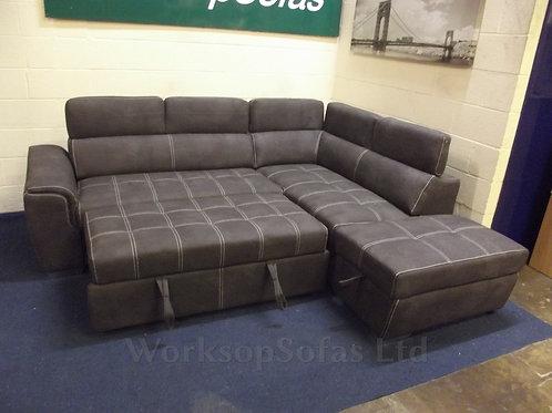 Elexis Corner Sofa Bed In Grey