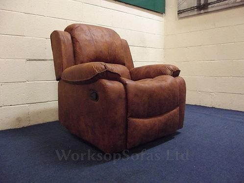 Texas Brown Manual Reclining Armchair