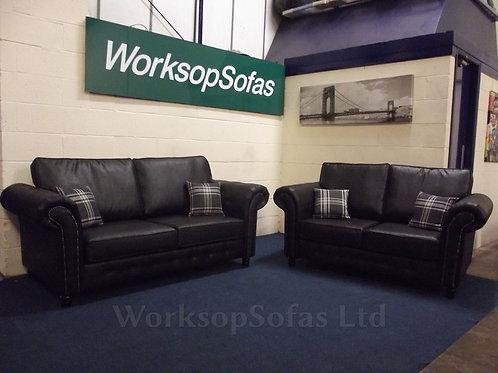 Fairfield Black 3 & 2 Seater Suite