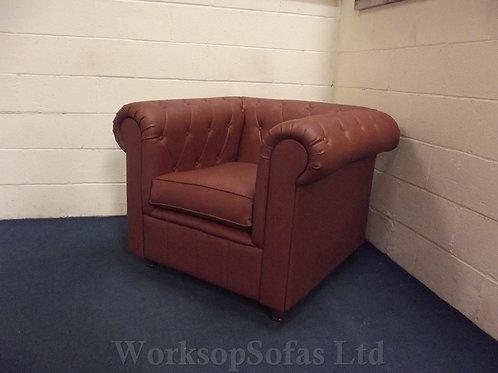'Smallwood Chesterfield' Tan Armchair