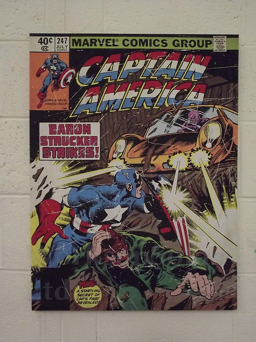Marvel Captain America 'Baron Strucker Strikes' Canvas