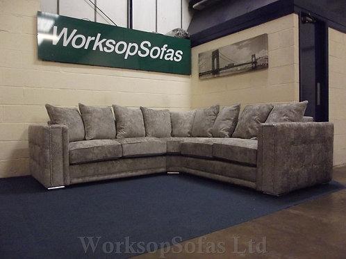 'Bentley' Grey Corner Sofa