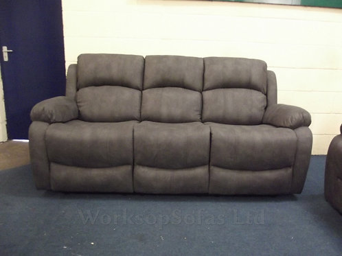Alaska Grey Reclining 3 Seater Sofa