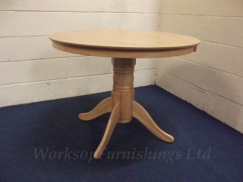 Round Oak Effect Dining Table