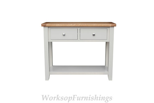 Hampshire Grey And Oak Console Table