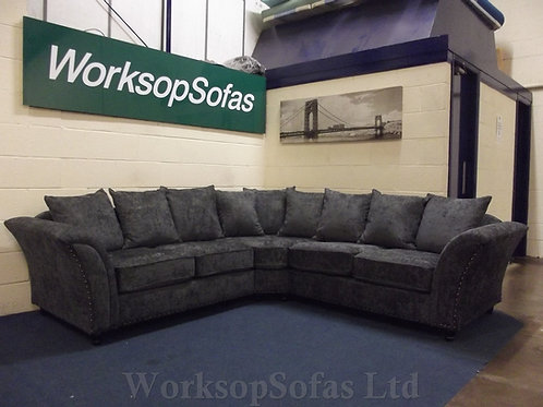 'Ursas' Grey Corner Sofa