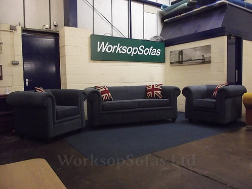 'Charly' 3 & 1 & 1 Chesterfield Style Sofa Suite